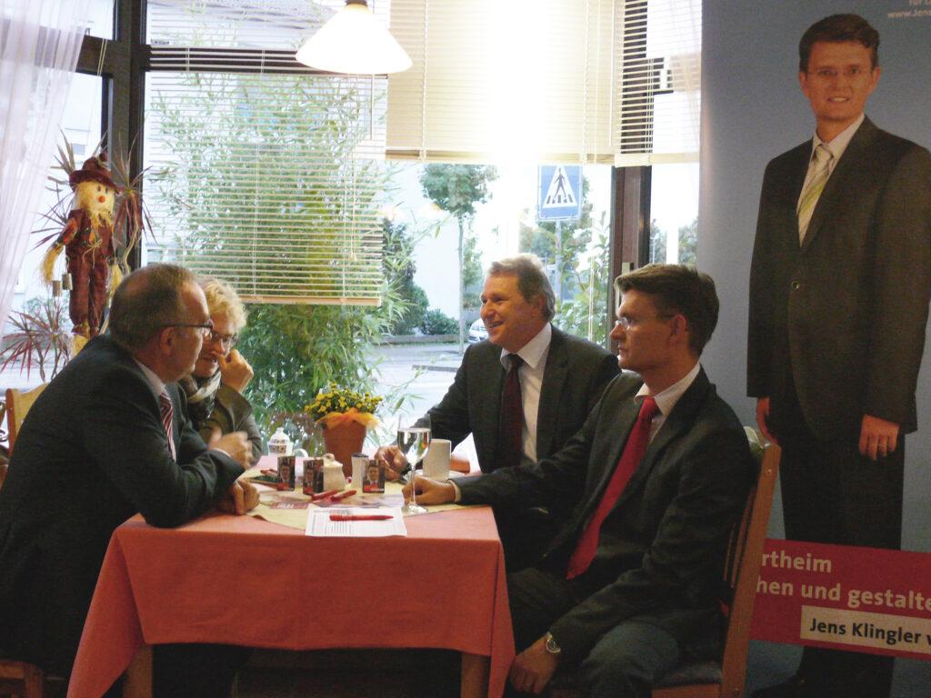 Viererrunde: Walter-Borjans, Lambrecht, Schmitt, Klinger (von links).